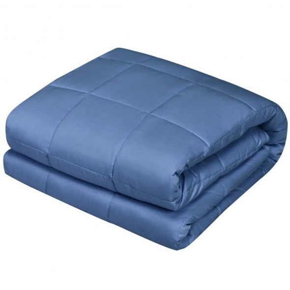 """60""""x80"""" 15lbs Premium Cooling Heavy Weighted Blanket -Blue"""