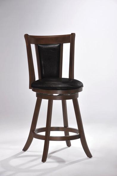 "24"" X 19"" X 38"" Cappuccino Polyurethane Counter Height Chair"