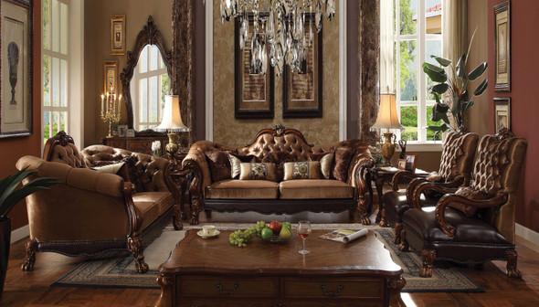 "54"" X 36"" X 20"" Cherry Oak Wood Coffee Table"