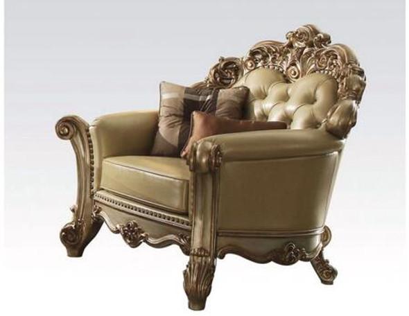 """48"""" X 42"""" X 47"""" Bone Polyurethane Chair amp; 2 Pillows"""