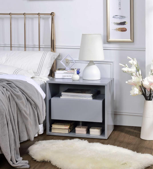 """22"""" X 16"""" X 20"""" Gray Wood Accent Table"""