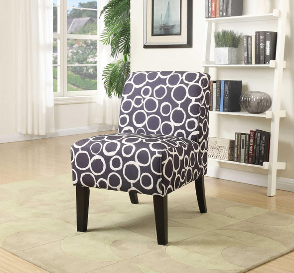 """23"""" X 31"""" X 34"""" Pattern Wood Accent Chair"""