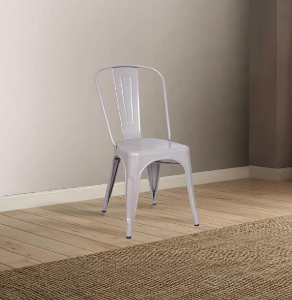 """17"""" X 20"""" X 33"""" Silver Metal Side Chair (Set-2)"""