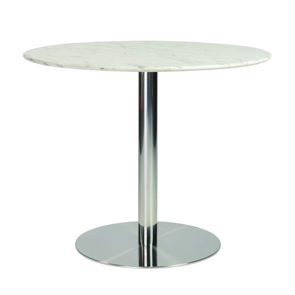 """37.01"""" X 37.01"""" X 30.32"""" 37"""" Round Dining Table Top in White Marble - 374301"""