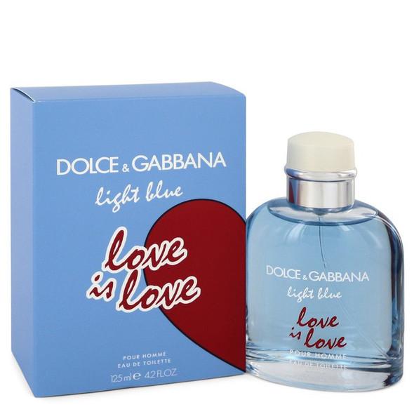 Light Blue Love Is Love by Dolce & Gabbana Eau De Toilette Spray 4.2 oz for Men