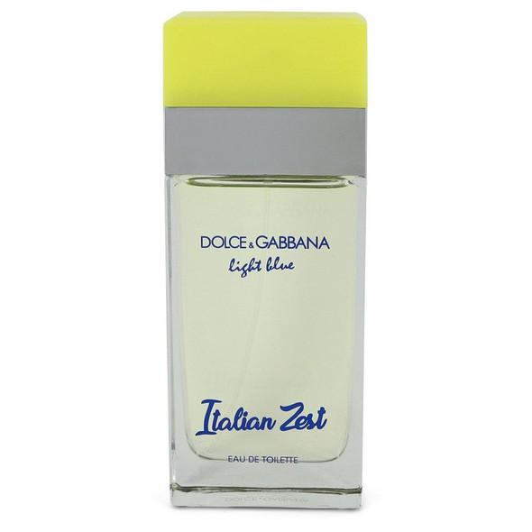 Light Blue Italian Zest by Dolce & Gabbana Eau De Toilette Spray 3.4 oz for Women - FR551803
