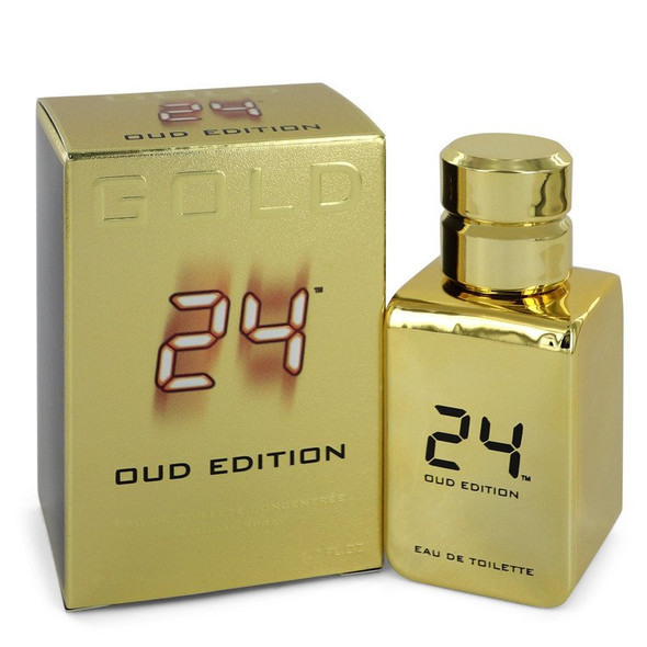 24 Gold Oud Edition by ScentStory Eau De Toilette Concentree Spray (Unisex) for Men