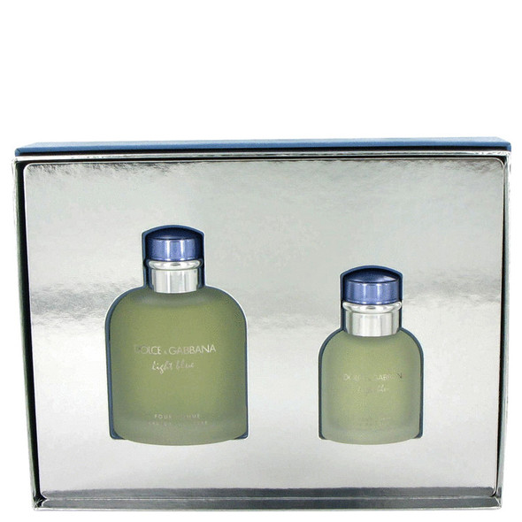 Light Blue by Dolce & Gabbana Gift Set -- 4.2 oz Eau De Toilette Spray + 1.3 oz Eau De Toilette Spray for Men