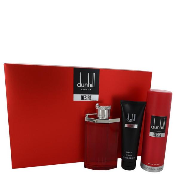 DESIRE by Alfred Dunhill Gift Set -- 3.4 oz Eau De Toilette Spray + 3 oz Shower Gel + 6.6 oz Body Spray for Men