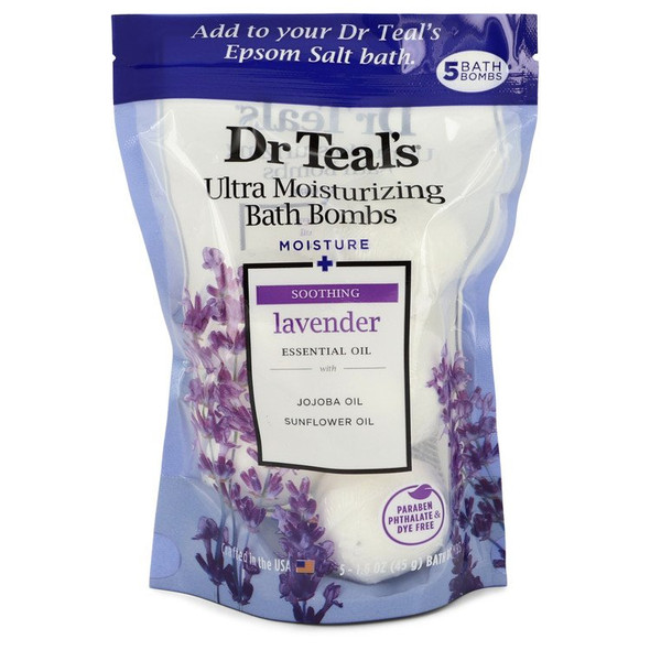 Dr Teal's Ultra Moisturizing Bath Bombs by Dr Teal's Five (5) 1.6 oz Kids Bath Time Fizzie Fun Scented Bath Bombs Deep Sea Lavender with Natural Essential Oils (Unisex) 1.6 oz for Men