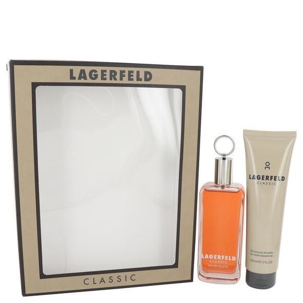 LAGERFELD by Karl Lagerfeld Gift Set -- 3.3 oz Eau De Toilette Spray + 5 oz Shower Gel for Men