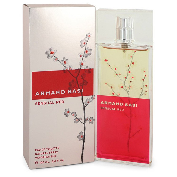 Armand Basi Sensual Red by Armand Basi Eau De Toilette Spray 3.4 oz for Women