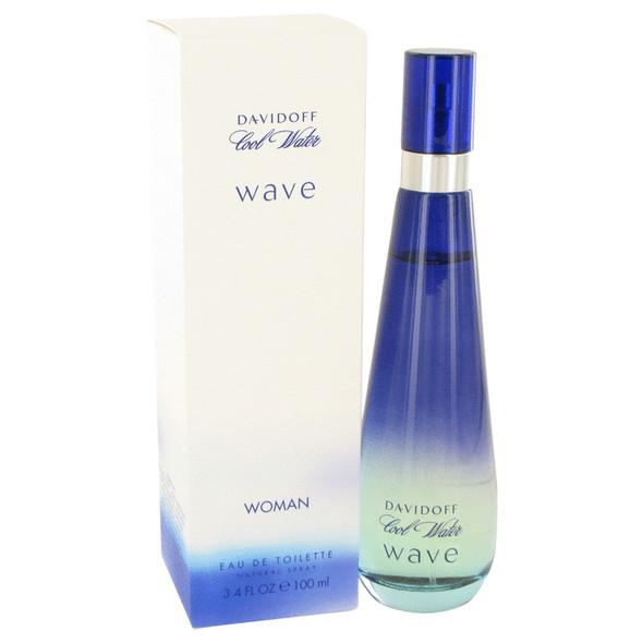 Cool Water Wave by Davidoff Eau De Toilette Spray 3.4 oz for Women