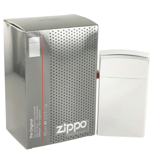 Zippo Silver by Zippo Eau De Toilette Refillable Spray 3 oz for Men