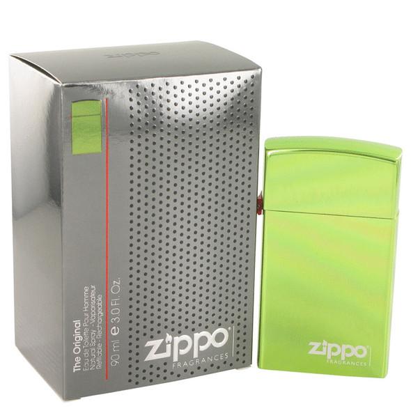 Zippo Green by Zippo Eau De Toilette Refillable Spray 3 oz for Men