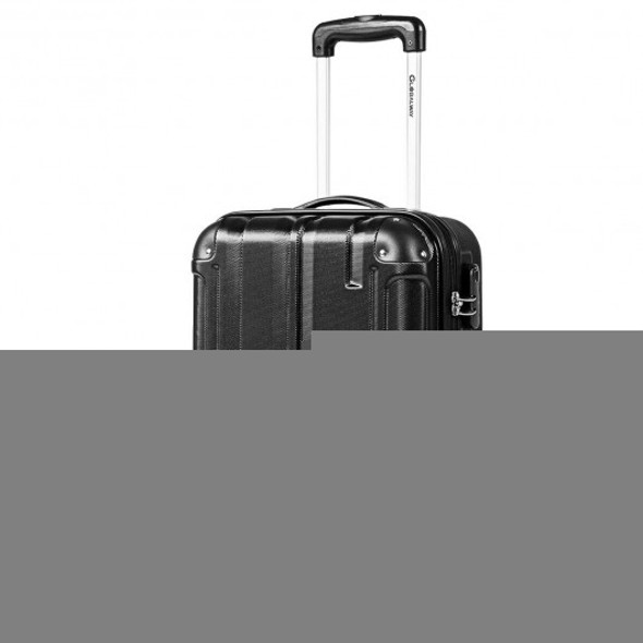 "18"" ABS Lightweight Hardshell Luggage Suitcase with 4-Wheel-Black"