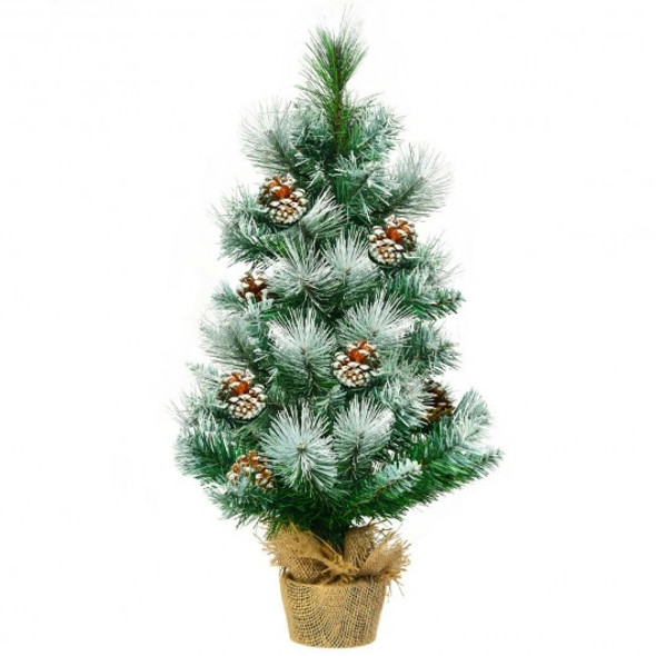 "24"" Snow Flocked Artificial Christmas Tree"