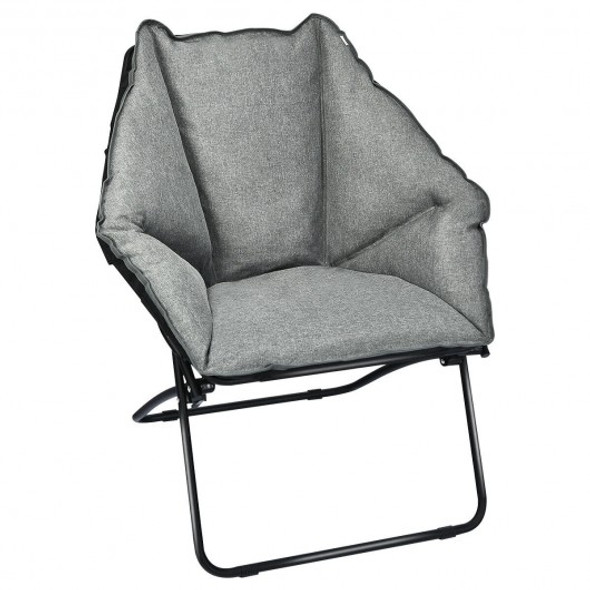 Folding Saucer Padded Chair Soft Wide Seat