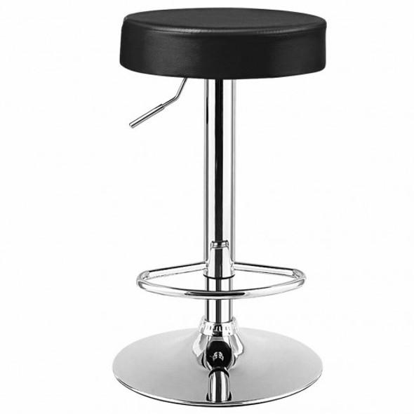 1 PC Round Bar Stool Adjustable Swivel Pub Chair-Black