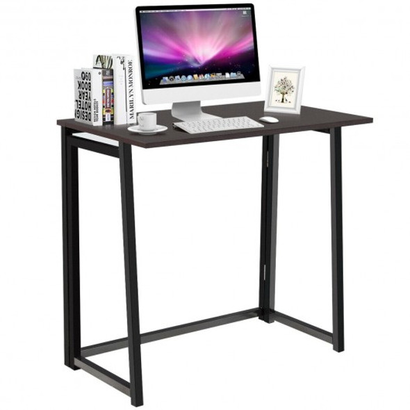 Foldable Home and Office Computer Desk-Coffee