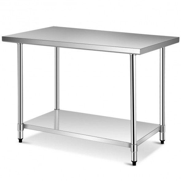 """30"""" x 48"""" Stainless Steel Food Preparation Kitchen Table"""