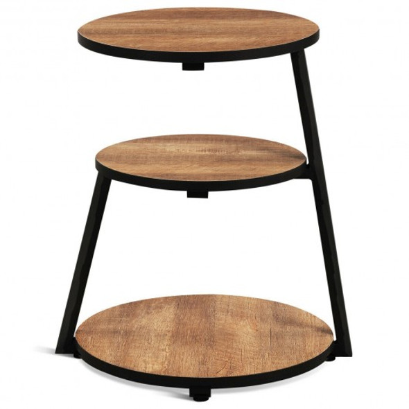 Round 3-Tier Sofa Side Table