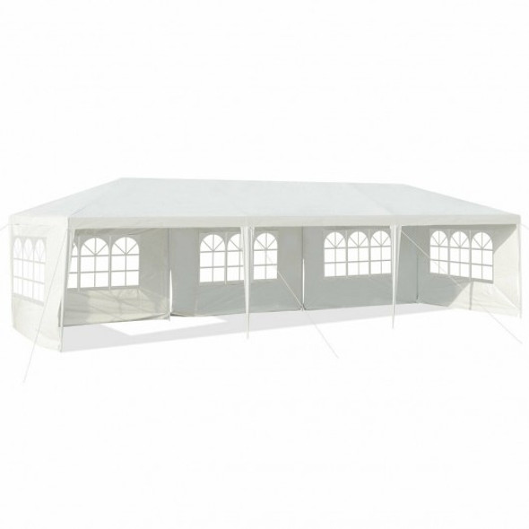 10' x 30' Outdoor Party Wedding 5 Sidewall Tent Canopy Gazebo