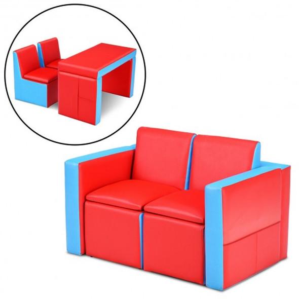 Multi-functional Kids Sofa Table Chair Set