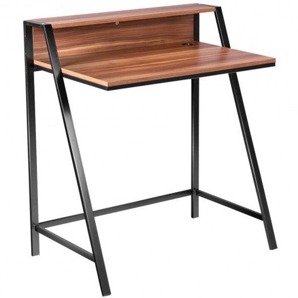 2 Tier Home Office Study Workstation Computer Desk