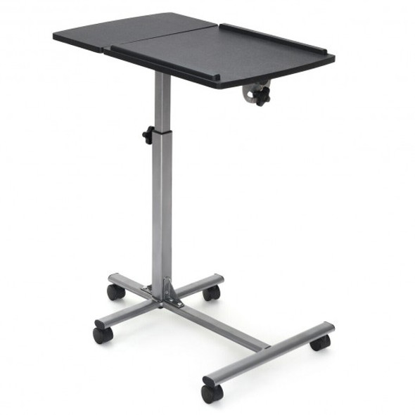 Adjustable Angle Height Rolling Laptop Table - COHW65679