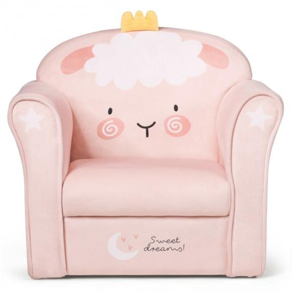 Kids Lamb Sofa Children Armrest Couch