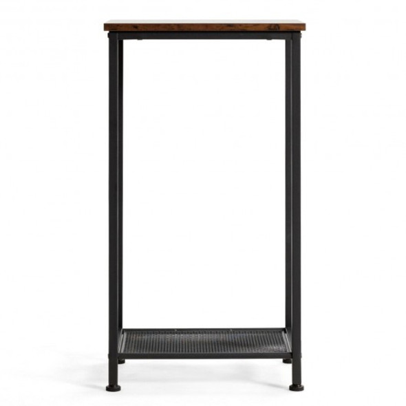 2-Tier Industrial Side End Accent Telephone Table