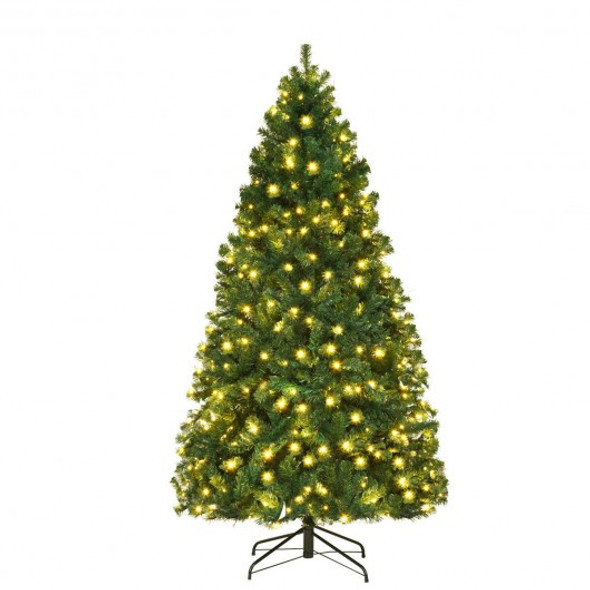 7 Ft PVC Artificial Christmas Tree with LED Lights