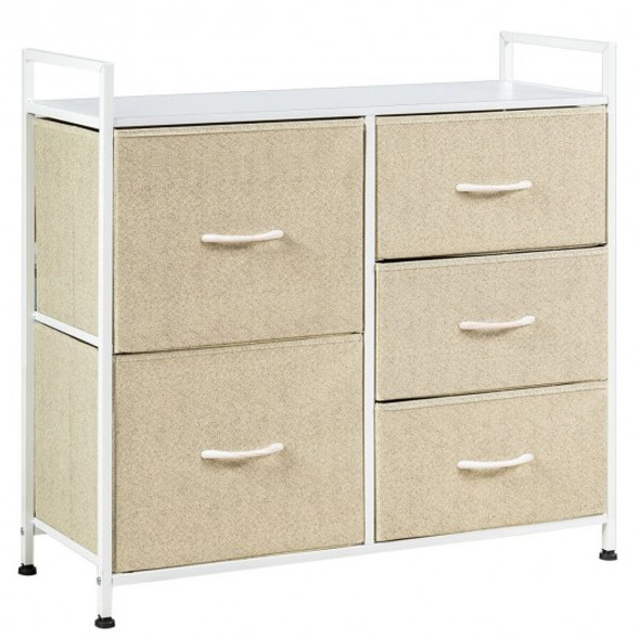 5 Dorm Room Unit Side  Drawers Storage-Beige