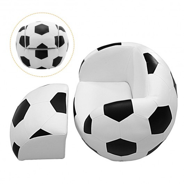 Football Shaped Kids Sofa Couch with Ottoman