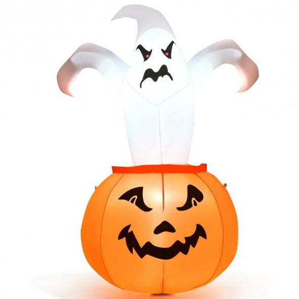 6 FT Halloween Blow-Up Inflatable Ghost in Pumpkin