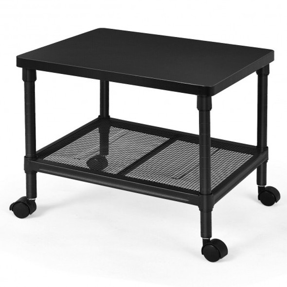2-Tier Rolling Under-Desk  with Storage Shelf