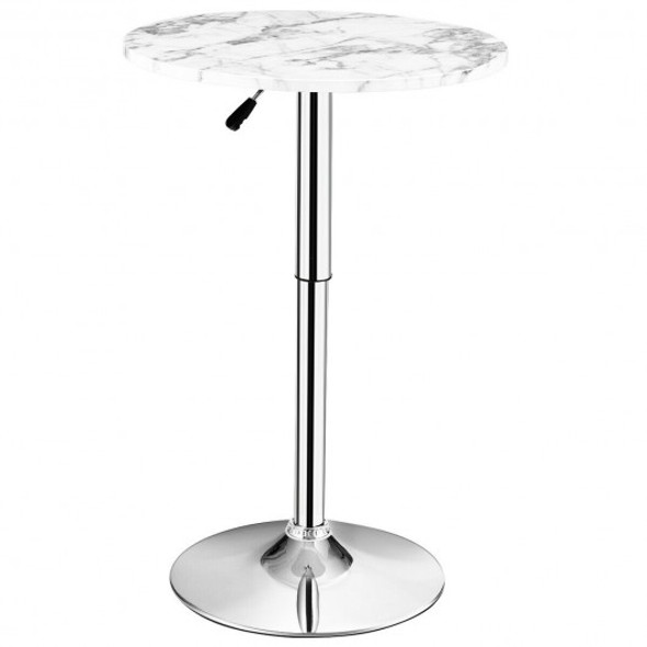 Round Height Adjustable Bistro Bar Table