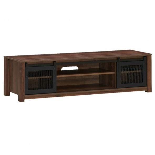 """TV Stand Entertainment Center for TV's up to 65"""" -Coffee"""