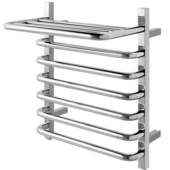 6-Bar Wall Mounted Towel Warmer Stainless Steel Towel Rack