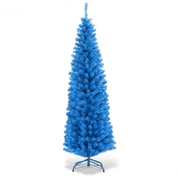 6 ft Unlit Pencil Slim Tree Artificial Christmas Tree