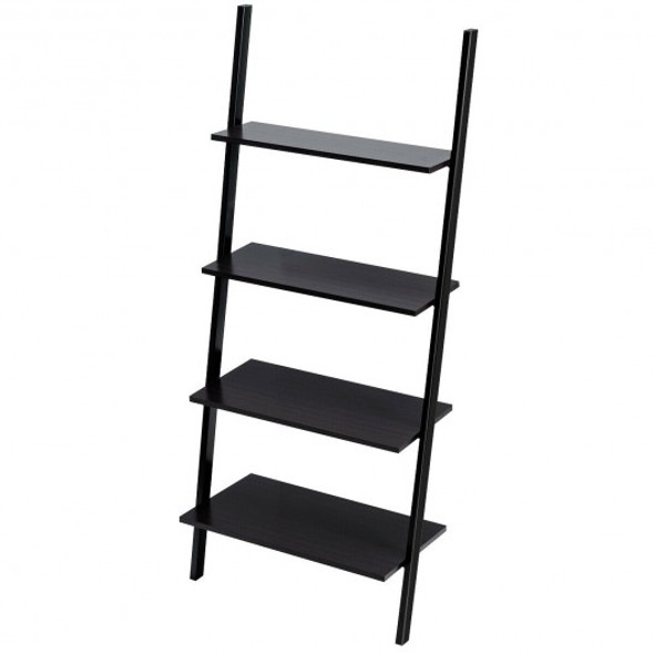 4-Tier Leaning Wall Industrial Ladder Shelf
