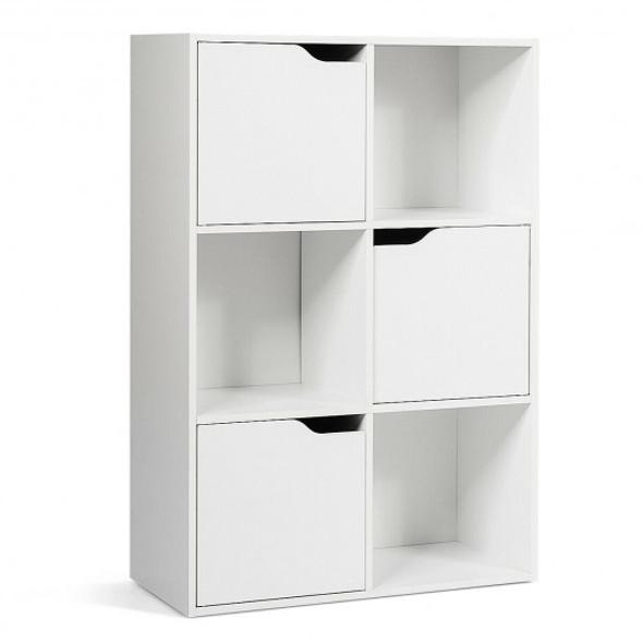 6 Cube Wood Storage Shelves Organization