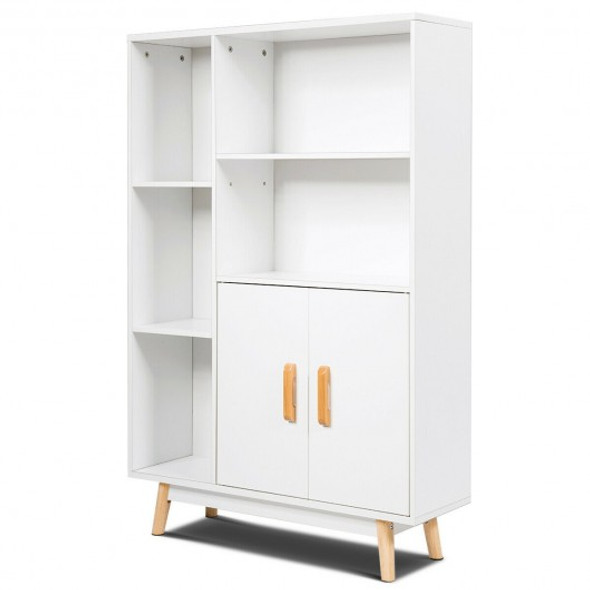 Floor Storage Free Standing Wooden Display Bookcase