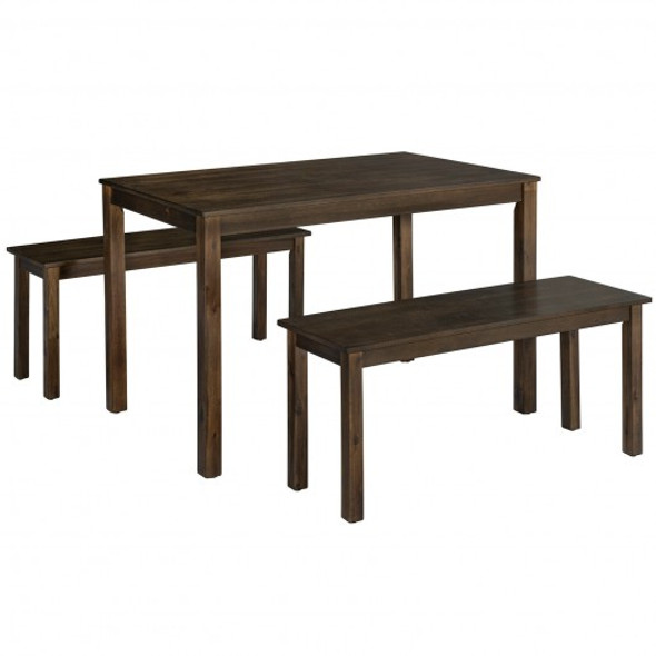 3PCS Modern Studio Collection Table Dining Set -Coffee