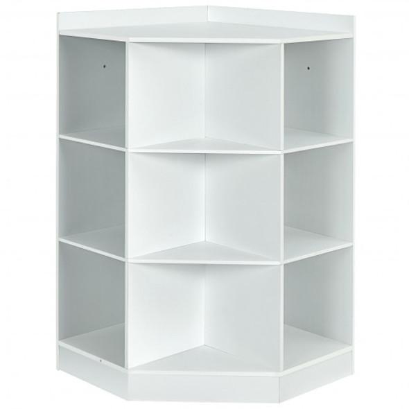 3-Tier Kids Storage Shelf Corner Cabinet with 3 Baskets