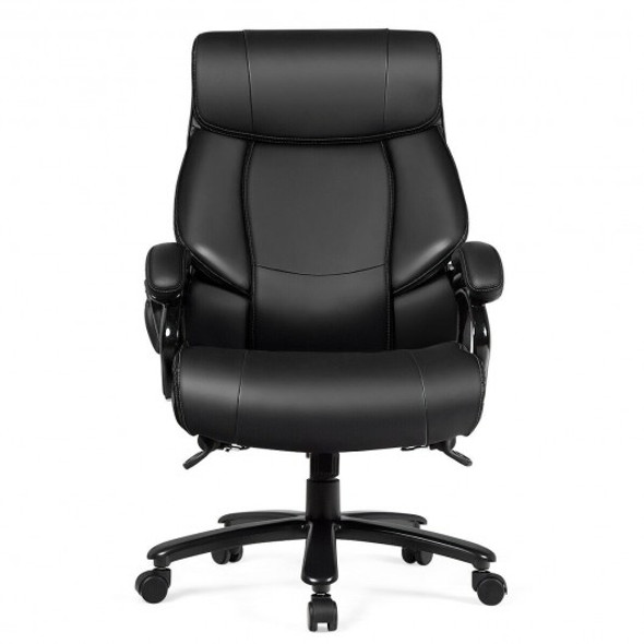 Big & Tall 400lb PU Leather Massage Office Chair-Black