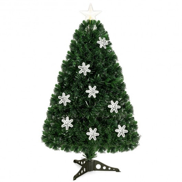 3' LED Optic Artificial Christmas Tree with Snowflakes
