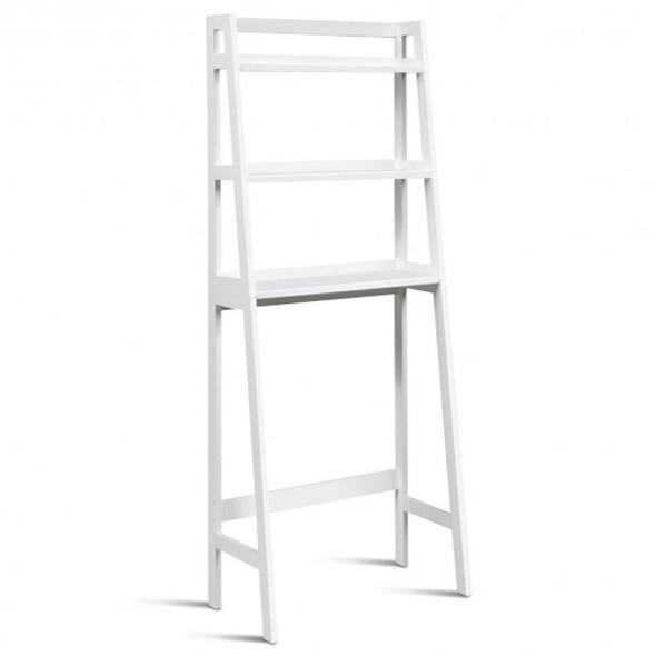 3-Shelf Over-The-Toilet Storage Organizer Rack-White