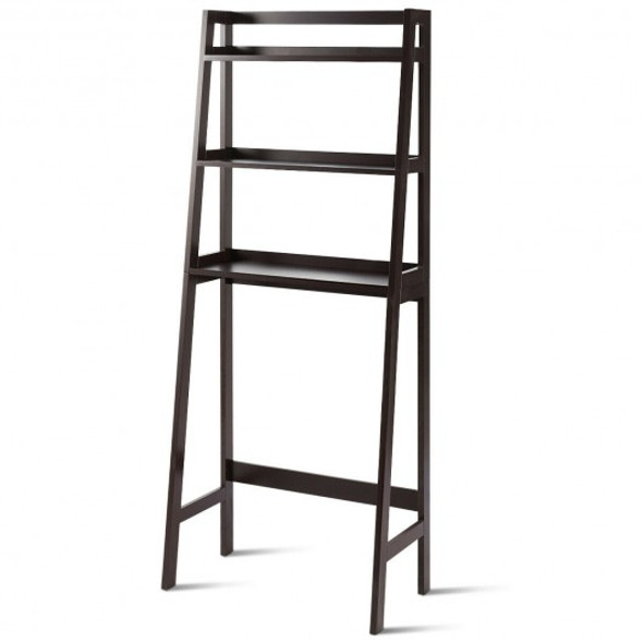 3-Shelf Over-The-Toilet Storage Organizer Rack-Brown